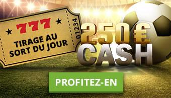 250 € à gagner par jour sur Bet777 après tirage au sort