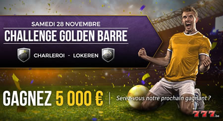 Golden Barre : gagnez 5.000 € lors de Charleroi x Lokeren