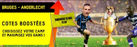 Bruges x Anderlecht: Cotes boostées sur betFirst