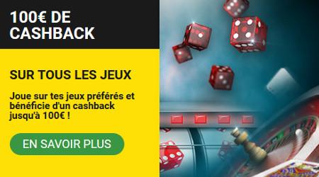 10% de cashack sur vos jeux de casino préférés avec Betfirst