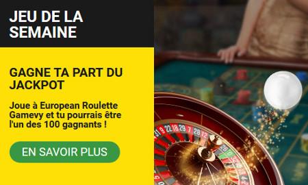 European Roulette Gamevy : 1.000 euros à gagner lors d'un tirage au sort sur le casino Betfirst