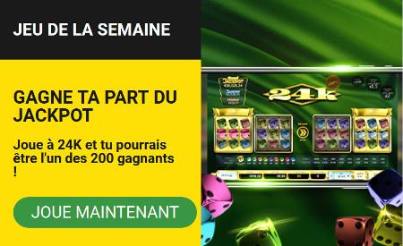 25 free spins à gagner sur 24K au casino BetFirst
