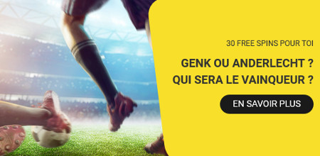 30 free spins sur le casino Betfirst pour Genk x Anderlecht