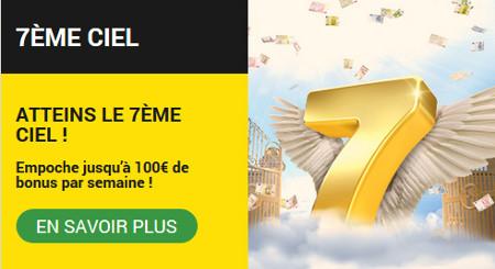 Atteins le 7ème Ciel : 100 € de bonus par semaine sur BetFirst Casino