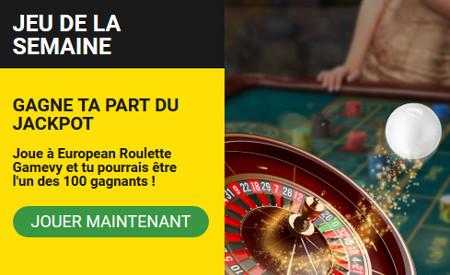 1.000 euros à se partager sur European Roulette Gamevy