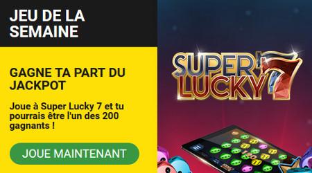 Tentez de gagner 5.000 free spins avec Super Lucky 7