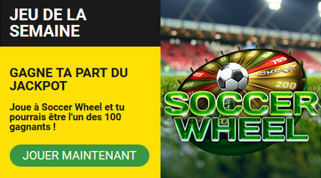 2.500 free spins à gagner sur Soccer Wheel - BetFirst Casino