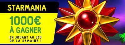1.000 euros à se partager sur Starmania