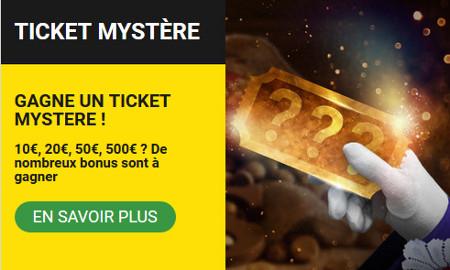 Des tickets Mystères de 10, 20, 50 et 500 € à gagner sur Betfirst Casino