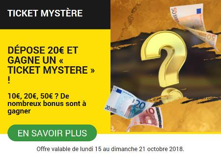 Faites un dépôt et gagnez un «Ticket Mystère»