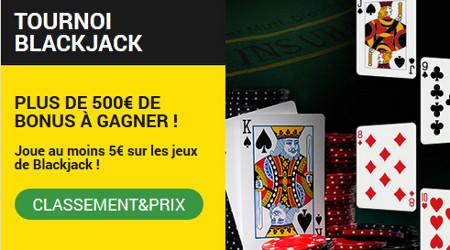 Tournoi Blackjack de BetFirst Casino 500 € de bonus à partager