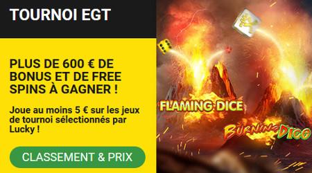 600 € de bonus et des free spins à gagner lors du tournoi EGT du Casino BetFirst