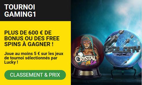 Faites le plein de bonus et de free spins avec le tournoi Gaming1