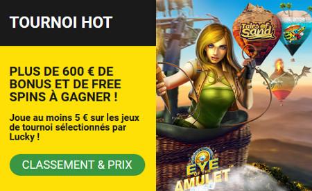 600 euros et des parties gratuites avec le tournoi Hot