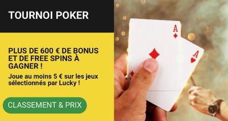 Tournoi Poker Betfirst : 600 € de bonus et Free spins à gagner