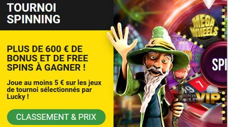 600 euros de bonus à gagner avec le tournoi Spinning de Betfirst Casino