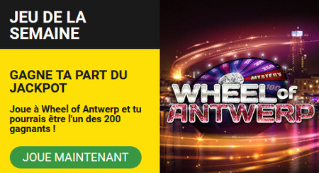 5.000 free spins à collecter sur Wheel of Antwerp
