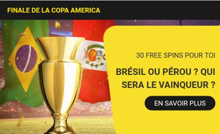 30 free spins pour terminer la Copa America avec Betfirst