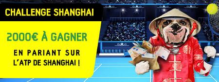 ATP de Shanghai: 2000 euros à se partager sur betfirst.be