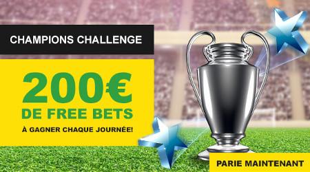 200 euros de paris gratuits à gagner pour chaque journée de Ligue des Champions