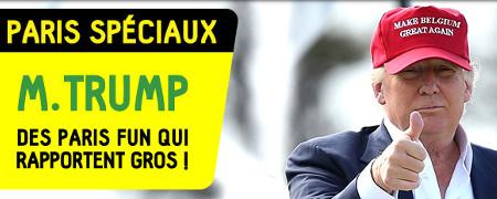 Trump arrive à Bruxelles: faites vos parissur BetFirst