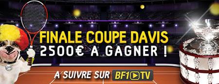 2.500 € à se partager lors de la Finale de la Coupe Davis sur betFirst