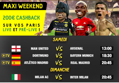 200 euros de cashback ce week-end sur betfirst.be
