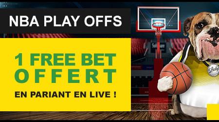 NBA Play-offs: Gagnez un pari gratuitsur BetFirst