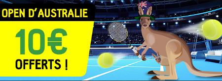 Open d'Australie: Gagnez un pari gratuit de 10 € sur BetFirst