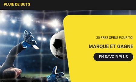 30 free spins à gagner pour Belgique x Saint-Marin