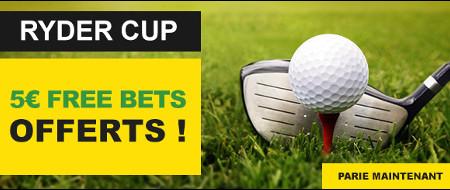 Gagnez un pari gratuit de 5 € pendant la Ryder Cup