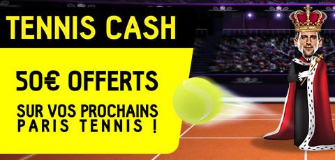 50 euros offerts sur le tennis pour le tournoi de Monte-Carlo