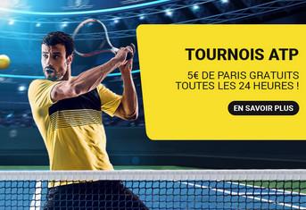 5 euros par jour sur les tournois ATP avec Betfirst