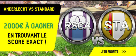 Anderlecht x Standard: Un jackpot de 2.000 euros à gagner