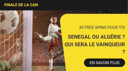 30 free spins à gagner pour la finale de la Coupe d'Afrique