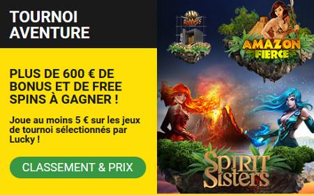 600 euros de bonus et des spins gratuits à gagner avec le tournoi Aventure