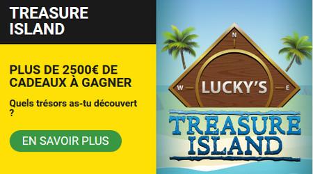 Treasure Island : 2.500 € offerts par semaine par BetFirst Casino