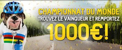 1.000 € à se partager à l'occasion du Championnat du monde de cyclisme