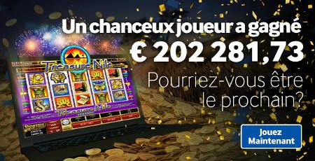 Un jackpot de 202.281,73 euros sur betway.be