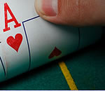 Carte poker as de coeur