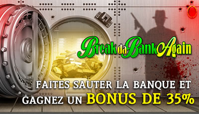 Bonus de 35 % sur Casino777 : Break Da Bank Again