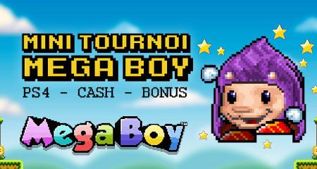 PS4 et du cash à gagner lors du Mini Tournoi Mega Boy de casino777
