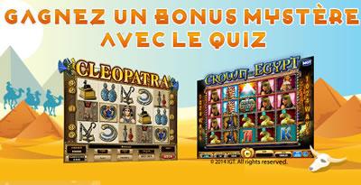 Casino 777 offre 100 € de bonus avec son quiz sur l'Égypte