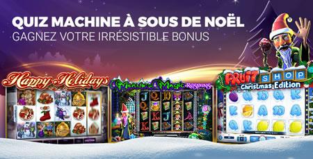 Quiz Noël : Un bonus de 200 € à gagner sur casino777.be