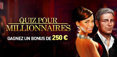 250 euros à gagner avec le Quizz des Millionnaires de Casino777