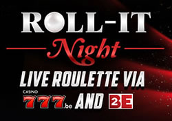 Roulette interactive Roll-It Night du casino777.be sur 2BE