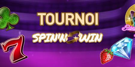 2.500 euros à se partager avec le tournoi Spin'n'Win