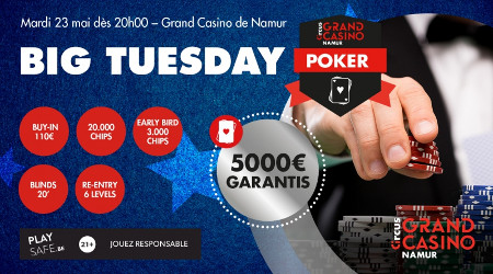 Big Tuesday au casino de Namur