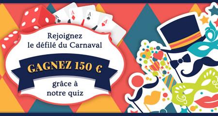 150 euros pour le Carnaval grâce au casino777