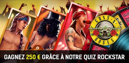 250 € de bonus sur la machine à sous Guns N' Roses